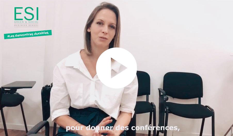 #LesRencontresDurables #5 Fanny Mortiz, Conférencière Zéro Déchet à l'ESI Business School