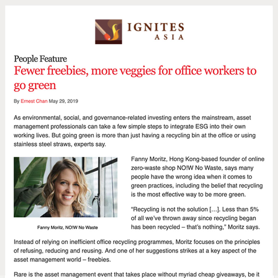 Fewer freebies, more veggies for workers to go green