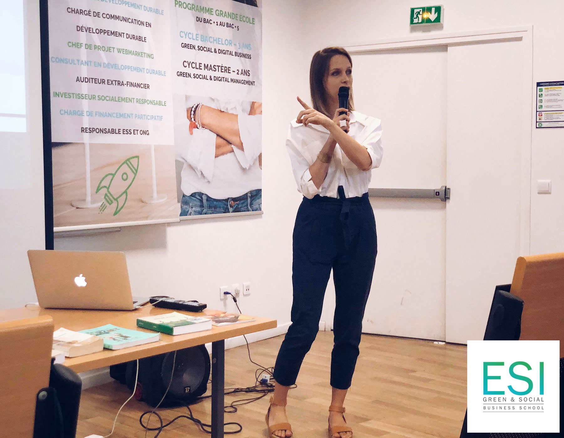 Talk about Zero Waste and sustainability at ESI Business School - France - June 2019
