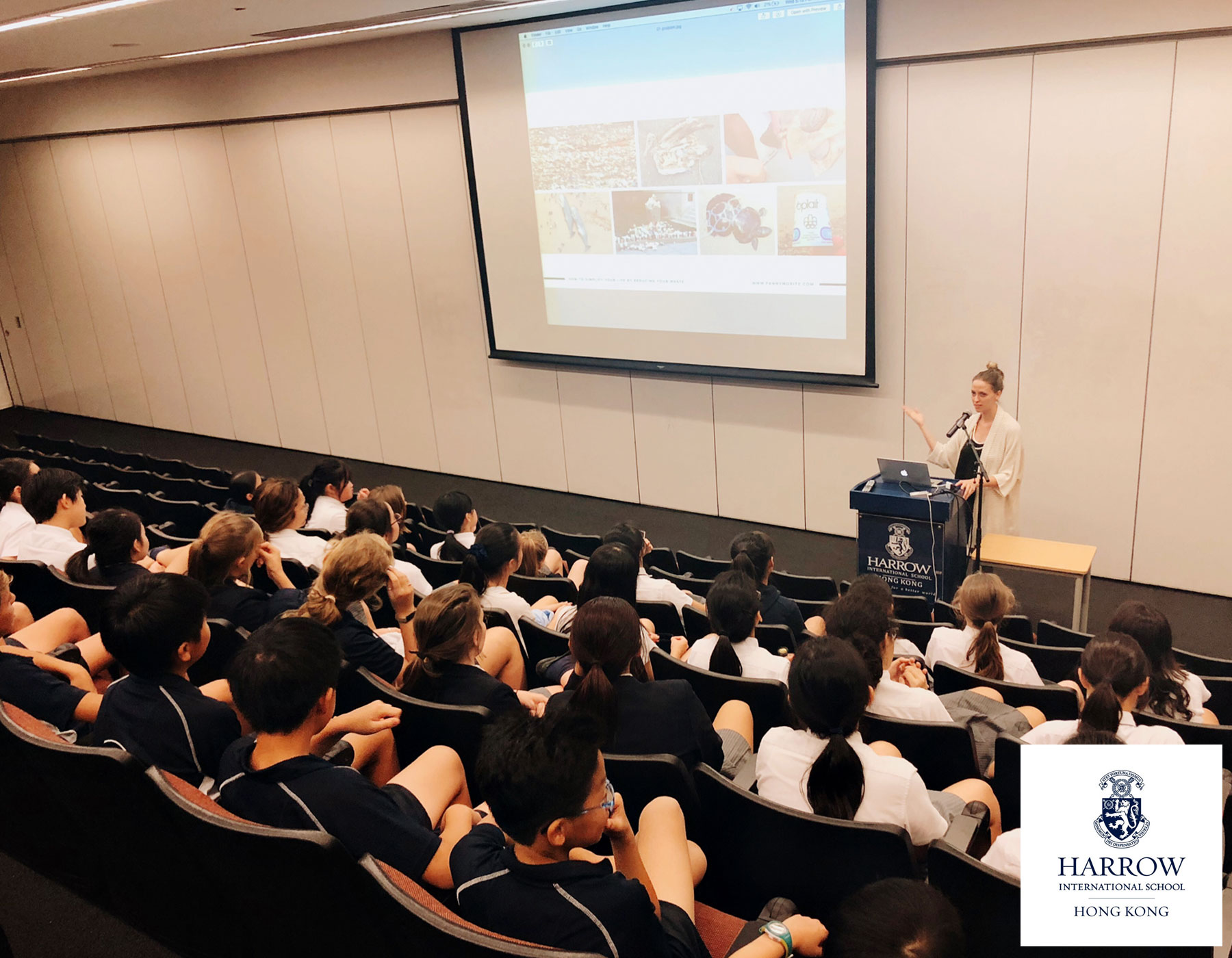 Talk about Zero Waste and sustainability at Harrow School - Hong Kong - October 2018